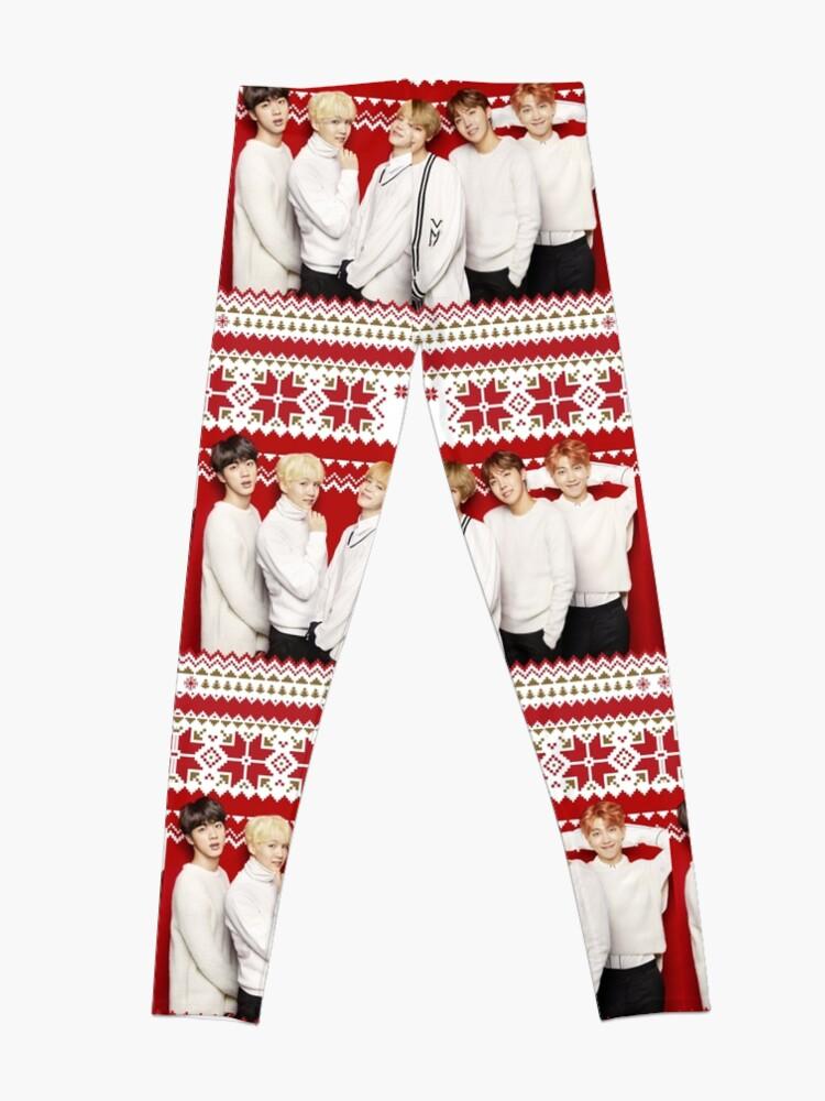 Alternative Ansicht von BTS Frohe Weihnachten [Klicken Sie hier, um weitere Artikel mit diesem Motiv zu sehen] Leggings