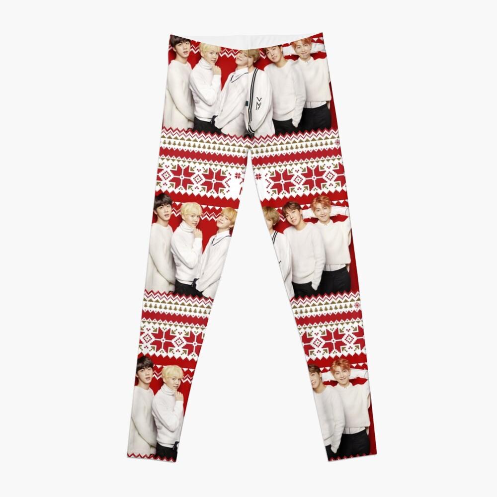 BTS Frohe Weihnachten [Klicken Sie hier, um weitere Artikel mit diesem Motiv zu sehen] Leggings