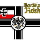 Vintage WW1 German War Flag by edsimoneit