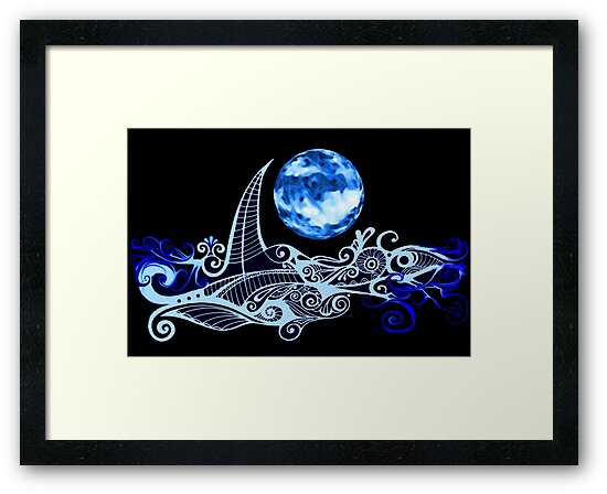 Lunar Sailing by MelDavies