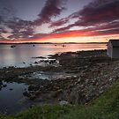 Blackmans Bay Rocks Sunrise #20 by Chris Cobern