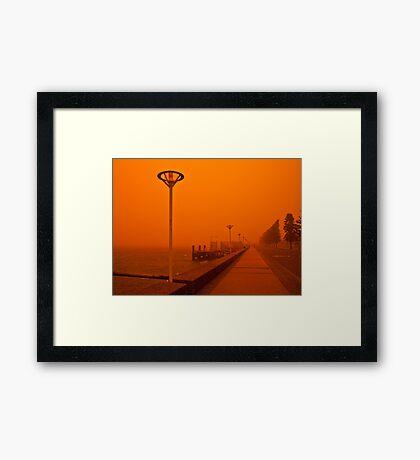Red Harbour Framed Print