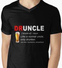 Druncle Beer Men's V-Neck T-Shirt