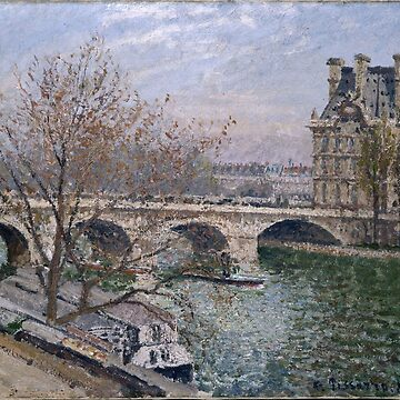 The Pont Royal and the Pavillon de Flore - Camille Pissarro by themasters