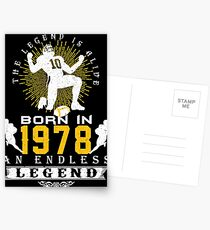 The 'Football' Legend Is Alive - Born In 1978 Postcards