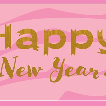 pink new year card by ConsilienceCo