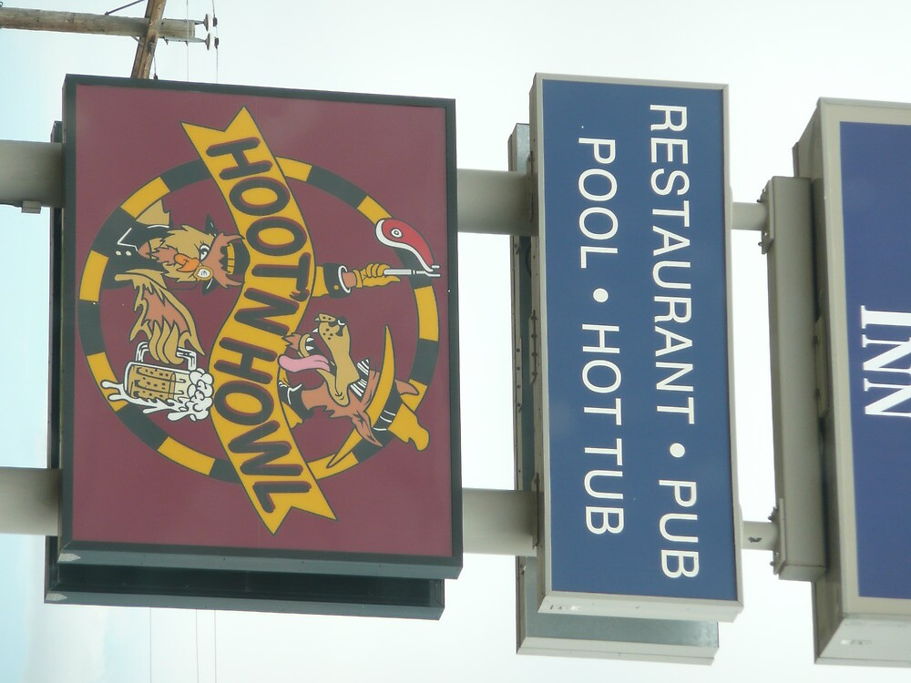'Hoot'nHowl' Inn Sign by Mywildscapepics