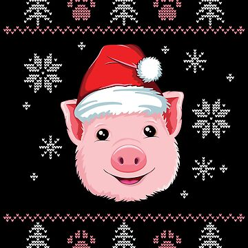 Pig Ugly Christmas T-Shirt Girls Women Santa Merry Xmas by 14thFloor