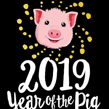 2019 Year Of The Pig T-Shirt Chinese New Year Fireworks by 14thFloor