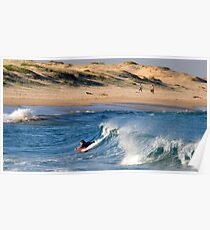 Body Boarding - Nobbys Beach NSW Poster