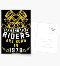 Legendary Riders Are Born In 1978 Postcards
