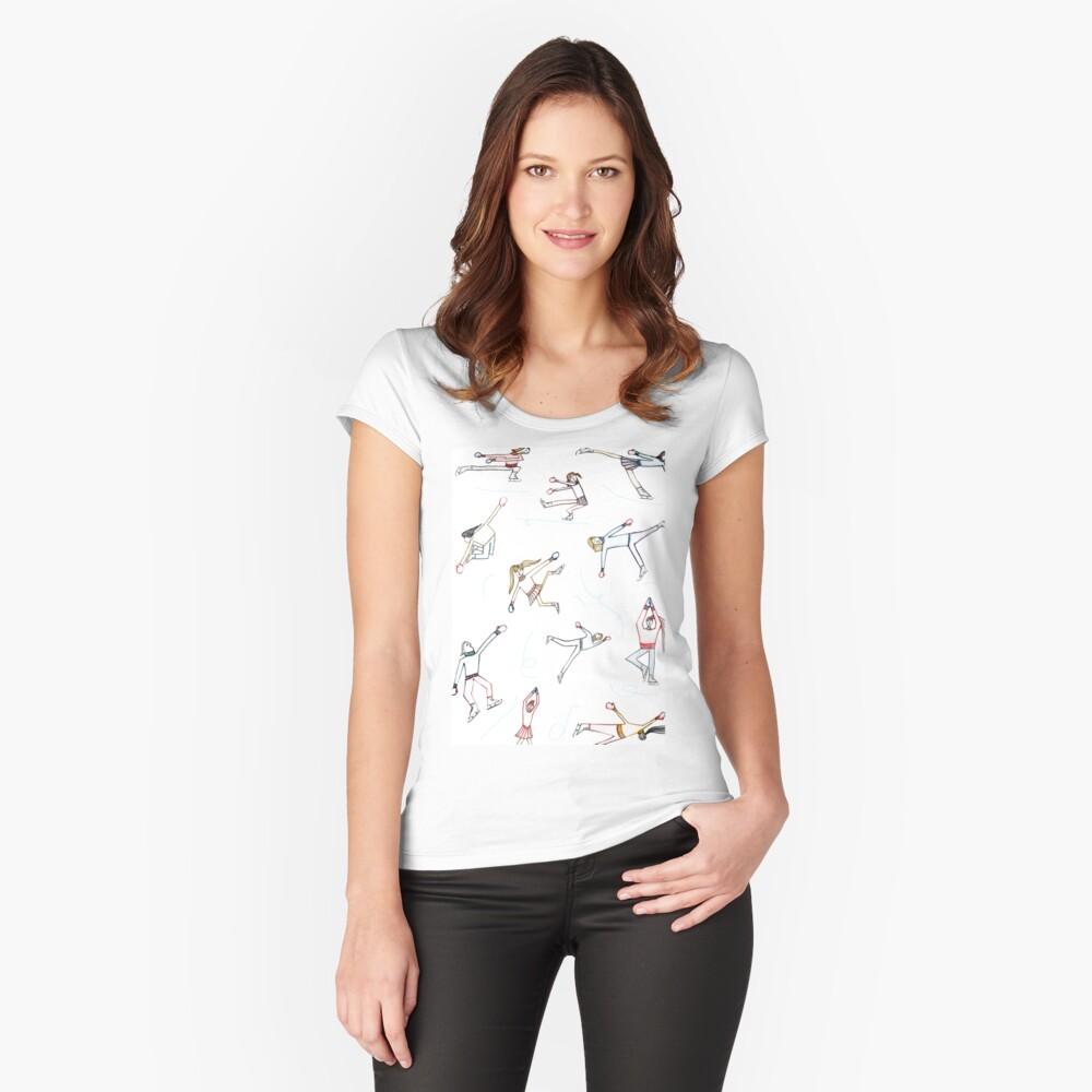 Eislaufen Tailliertes Rundhals-Shirt