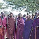 Maasai Welcome, Tanzania, Africa by Adrian Paul