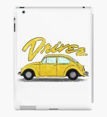 Driver of retro yellow car iPad Case/Skin
