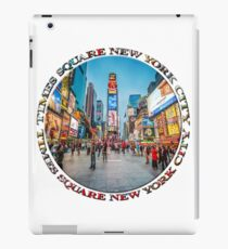 Times Square Sparkle (badge on white) iPad Case/Skin