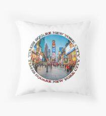 Times Square Sparkle (badge on white) Throw Pillow