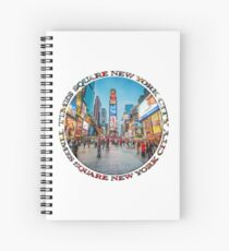 Times Square Sparkle (badge on white) Spiral Notebook