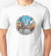 Times Square Sparkle (badge on white) Slim Fit T-Shirt