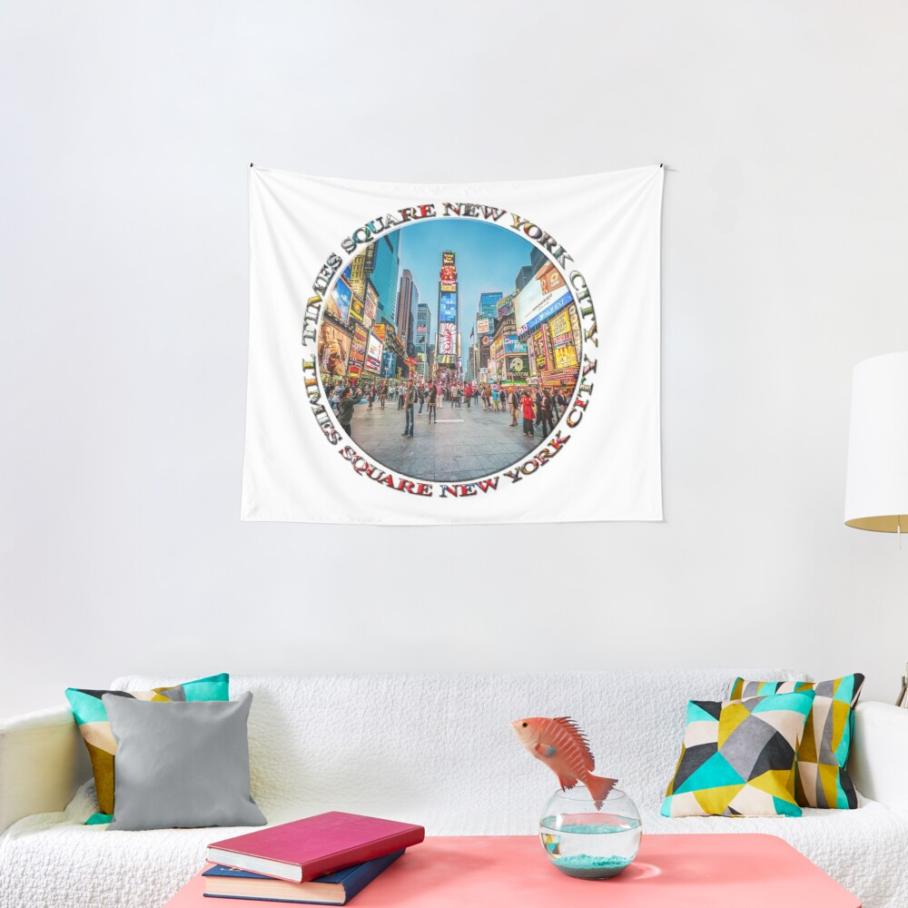 Times Square Sparkle (badge on white) Tapestry