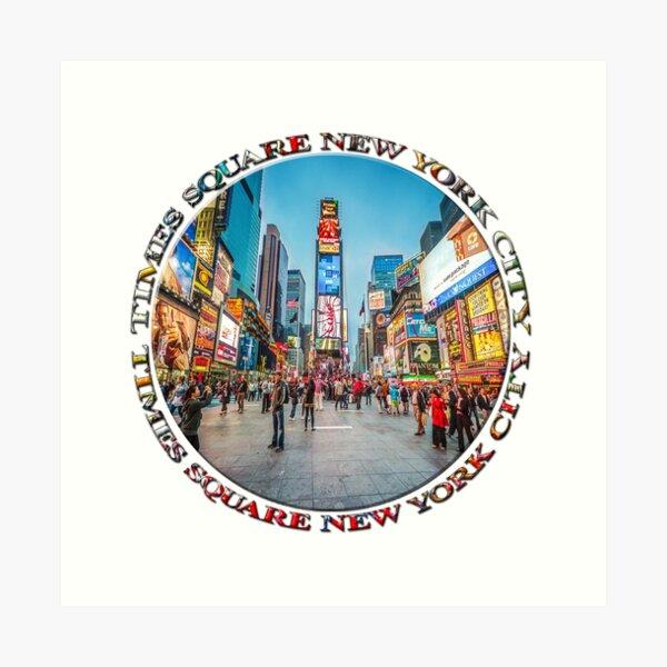 Times Square Sparkle (badge on white) Art Print