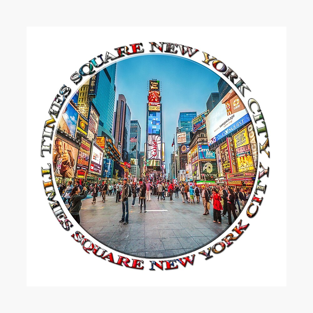 Times Square Sparkle (badge on white) Photographic Print