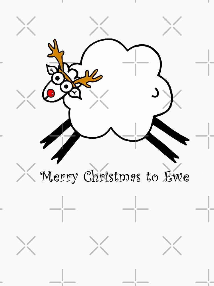 Merry Christmas to Ewe - Rudolph the Red-nosed Rein-sheep by AdrienneBody
