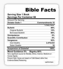 Bible Facts (stickers) Sticker