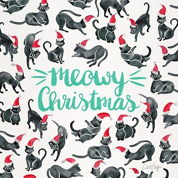 Meowy Christmas – Mint Type by catcoq
