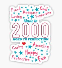 Made In 2000 - Aged To Perfection Sticker