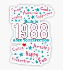 Made In 1988 - Aged To Perfection Sticker