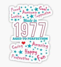 Made In 1977 - Aged To Perfection Sticker