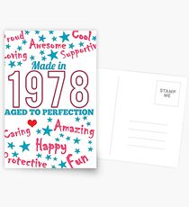 Made In 1978 - Aged To Perfection Postcards