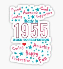 Made In 1955 - Aged To Perfection Sticker