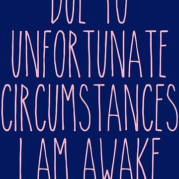 unfortunate circumstances - pink/navy by CanisPicta