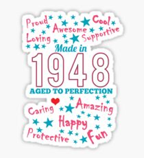 Made In 1948 - Aged To Perfection Sticker