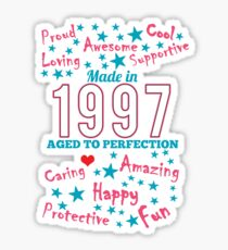 Made In 1997 - Aged To Perfection Sticker