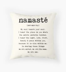 Namaste. Throw Pillow