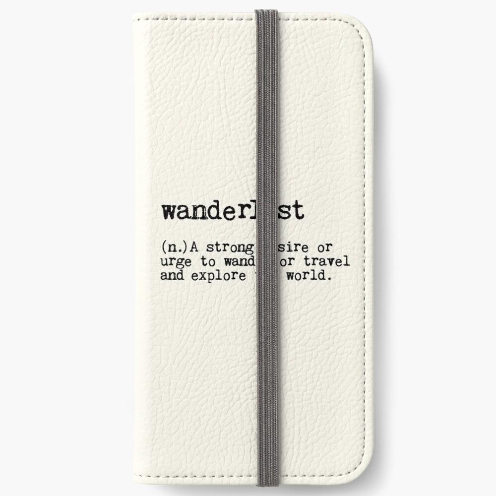Fernweh iPhone Flip-Case
