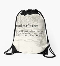 Wanderlust Drawstring Bag