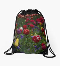 Sea of Tulips Drawstring Bag