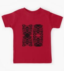 Geometric vector abstraction in red and black Kids Clothes
