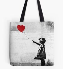 Banksy - Girl with a balloon Tote Bag