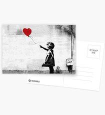 Postales Banksy - Chica con un globo