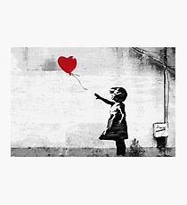 Banksy - Girl with a balloon Photographic Print