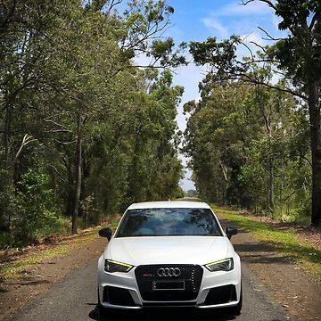 Audi 8V RS3 on an outback road by Holneub