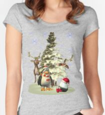 Looking for Santa.. tee shirt Women's Fitted Scoop T-Shirt