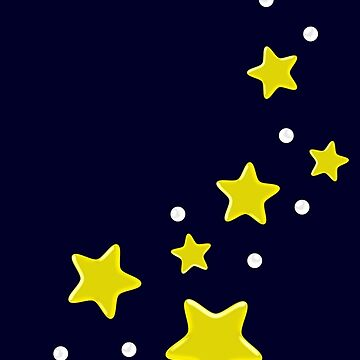 Stars Graphic Galaxy Night Sky Design Pattern by xsylx