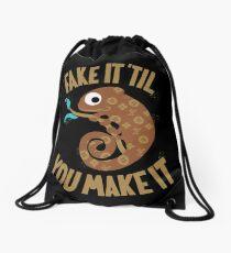 Fake It Til You Make It Drawstring Bag