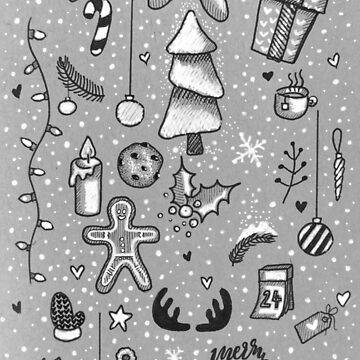 Christmas doodles  by DoughtycreARTiv
