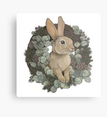 Winter Rabbit Metal Print